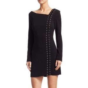 NWT ALC Luca grommet black lace up dress